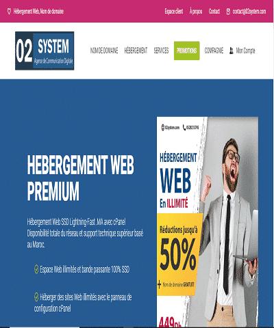 Création et référencement et hébergement de site web au Maroc