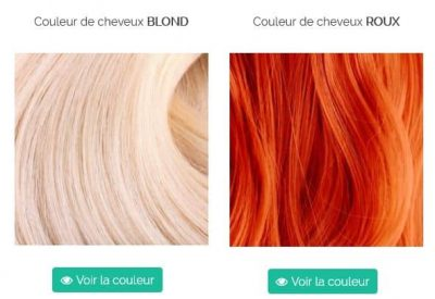 Trouvez la bonne couleur pour ses cheveux