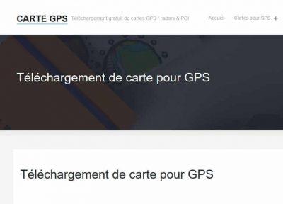 Téléchargement des cartes GPS gratuites
