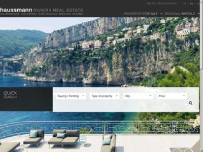 Agence immobilière proposant des biens immobiliers de luxe