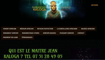 Jean Kaloga, marabout africain et sorcier vaudou à Paris