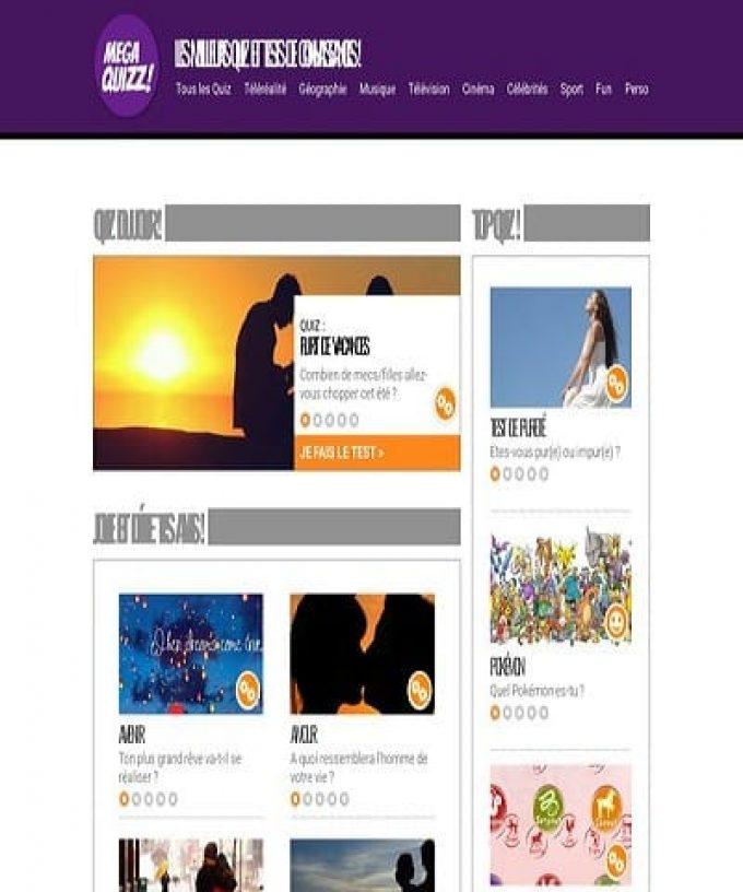 Megaquizz.fr : les meilleurs quiz en ligne