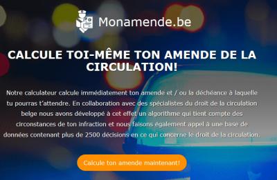 Mon Amende, calculateur d'amendes en Belgique