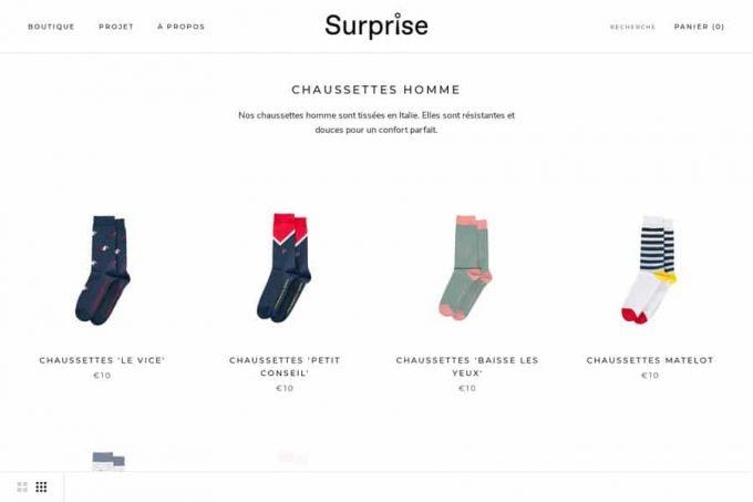 Pourquoi les chaussettes Surprise sont-elles de premier choix?