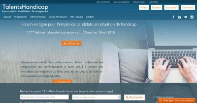 Talents Handicap : Forum en ligne sur l'emploi des candidats handicapés