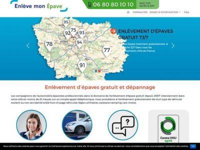 Enlèvement d'épave gratuit en région parisienne