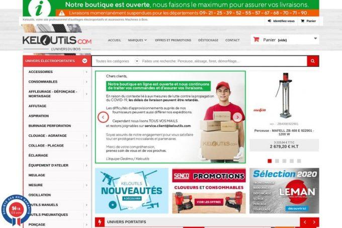 Vente en ligne des outillages électroportatifs et des machines à bois