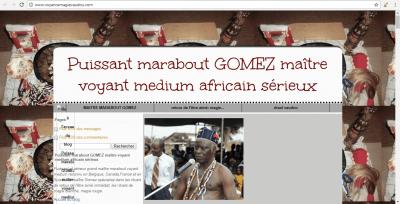 Maître Gomez, marabout africain sérieux et très puissant
