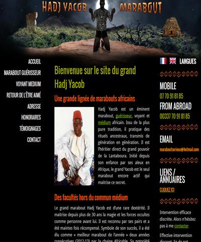 Le marabout africain Hadj Yacob