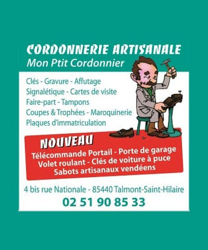 Mon Ptit cordonnier, votre spécialiste cordonnerie & serrurerie à Talmont-Saint-Hilaire