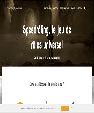 Speedrôling, le jeu de rôle universel